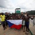 Gabon Lalara booue lope, trajekt přes řeku Ogowe