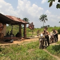 Zair, jízda na hranice, Angola spaní u policajtů