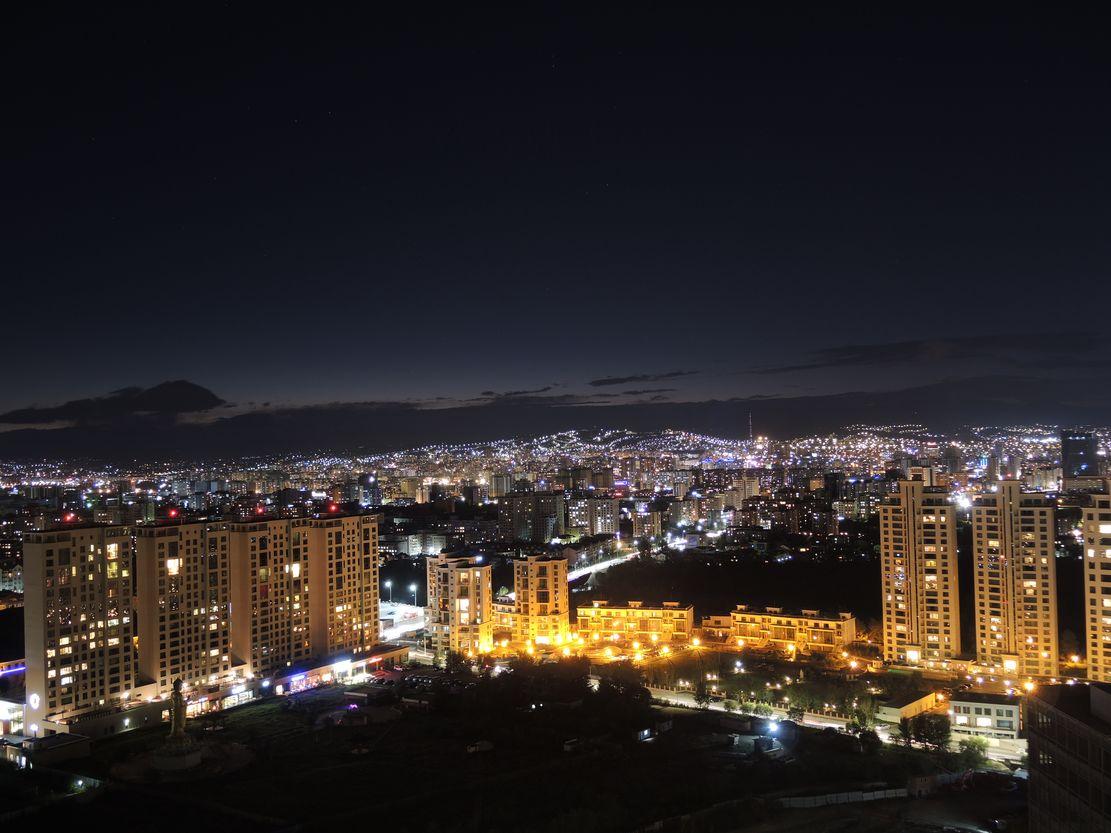 Noční Ulaanbaatar