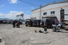 Servis motorek v Ulaanbaataru, Mongolsko