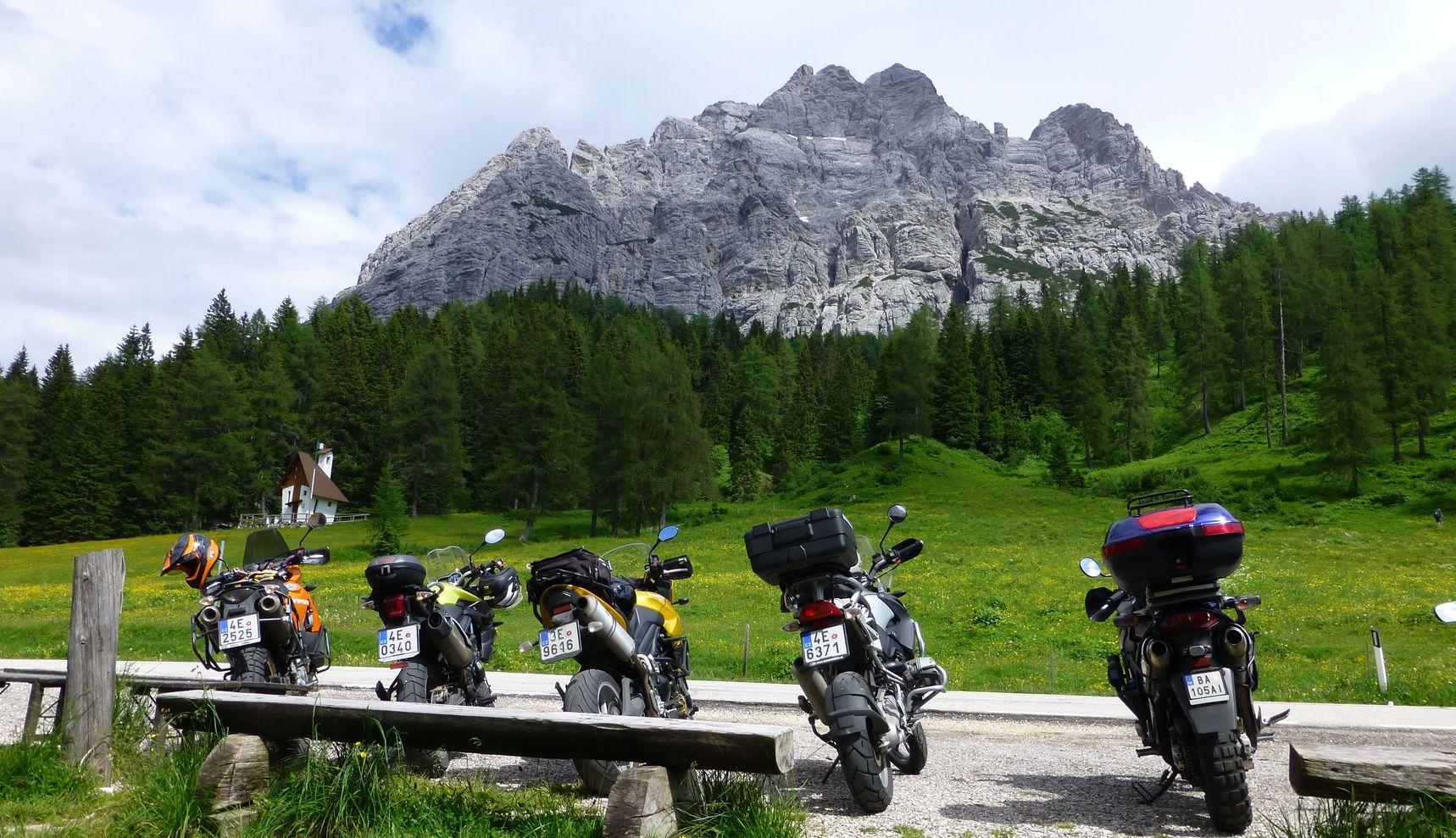 Motorka a Alpy