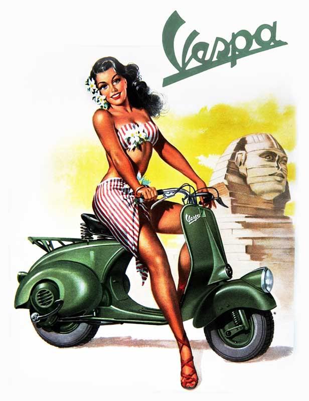 motorkáři na Vespa